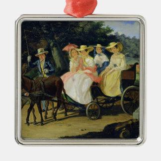 A Run, 1845-46 Silver-Colored Square Decoration