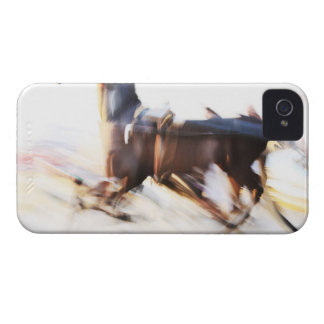 A running horse at a high speed is competing in iPhone 4 case