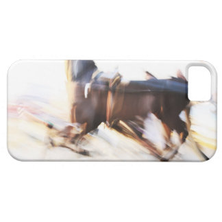 A running horse at a high speed is competing in iPhone 5 case