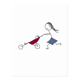 A running mommy is a happy mommy postcard