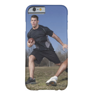 A running play during a touch football game. barely there iPhone 6 case