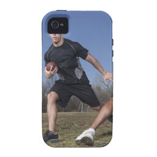 A running play during a touch football game. case for the iPhone 4