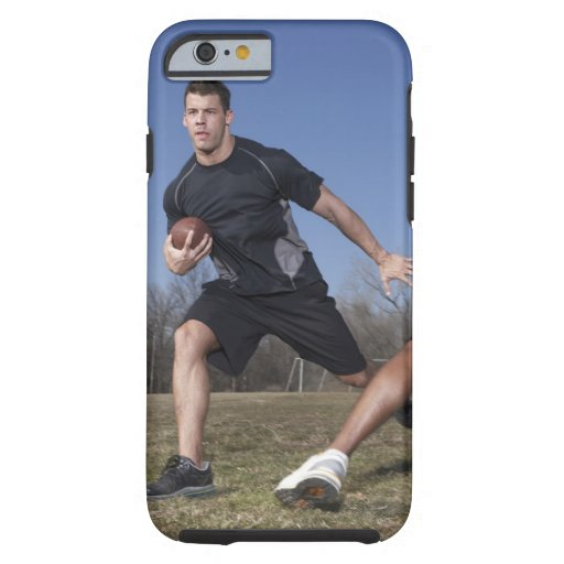 A running play during a touch football game. iPhone 6 case