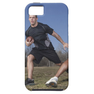 A running play during a touch football game. iPhone 5 case