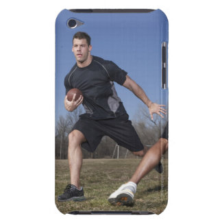 A running play during a touch football game. iPod Case-Mate case