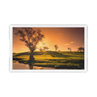 A rural Adelaide Hills landscape Acrylic Tray