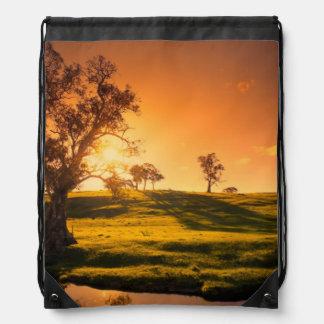 A rural Adelaide Hills landscape Drawstring Bag