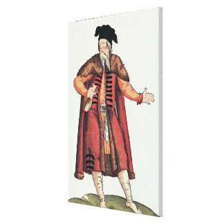 A Russian Merchant Canvas Print