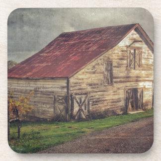 A Rustic Barn Coaster