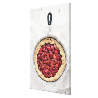 A rustic, homemade tart filled with fresh canvas print