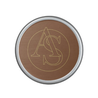 """""""A&S"""" your monogram on """"iced coffee"""" color Speaker"""