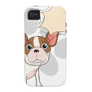 A sad bulldog with an empty callout iPhone 4 covers