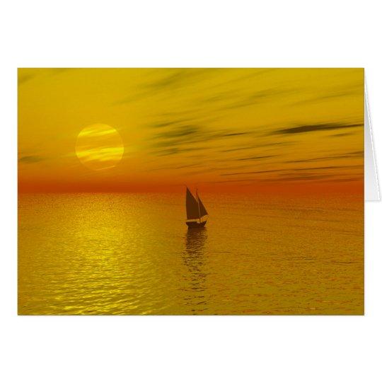 A sailing boat. card