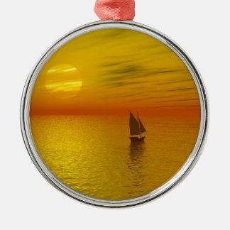 a sailing boat christmas ornament