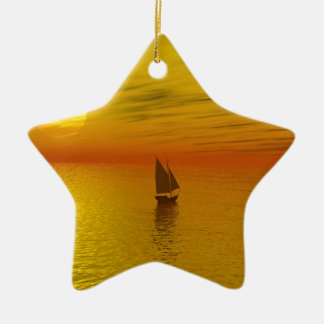 a sailing boat christmas ornament