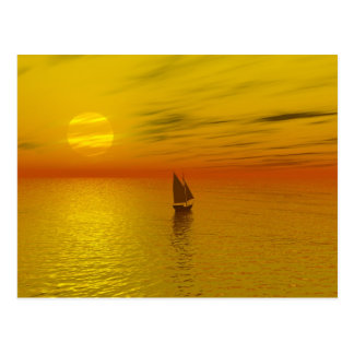 A sailing boat. post cards