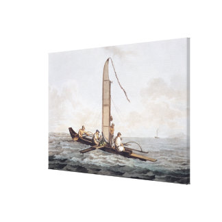 A Sailing Canoe of Otaheite Canvas Print