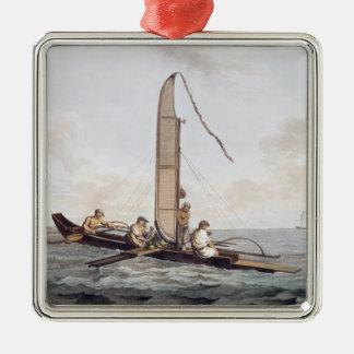 A Sailing Canoe of Otaheite Christmas Ornament