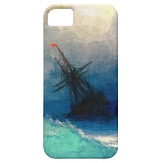 A sailing ship in a storm iPhone 5 cover