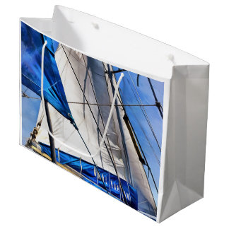 A Sailor Is An Artist And His Medium The Wind Large Gift Bag