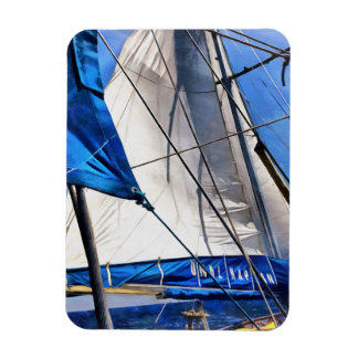 A Sailor Is An Artist And His Medium The Wind Rectangular Photo Magnet