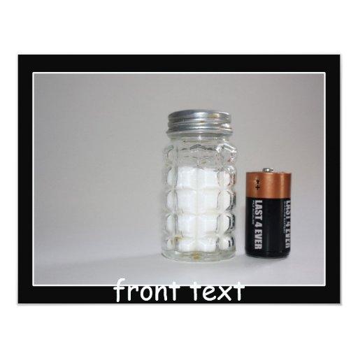 A Salt and Battery 11 Cm X 14 Cm Invitation Card