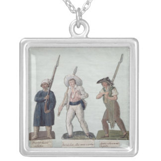 A Sans Culotte with his Pike, a Carter Silver Plated Necklace