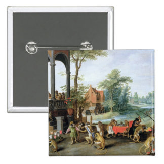 A Satire of the Folly of Tulip Mania 15 Cm Square Badge