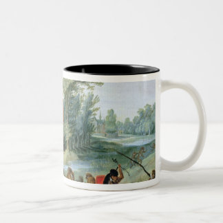 A Satire of the Folly of Tulip Mania Two-Tone Coffee Mug