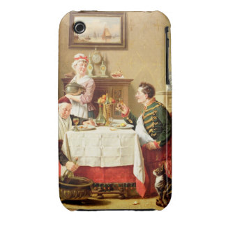 A Satisfying Meal, 1883 (oil on  canvas) iPhone 3 Covers