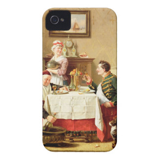 A Satisfying Meal, 1883 (oil on  canvas) iPhone 4 Case-Mate Case