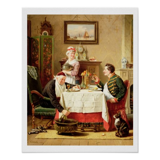 A Satisfying Meal, 1883 (oil on  canvas) Posters