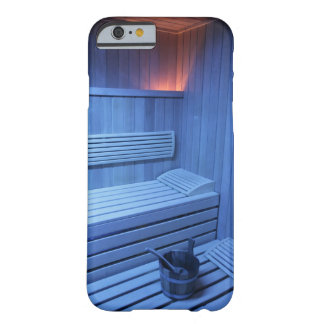 A sauna in blue light, Sweden. Barely There iPhone 6 Case