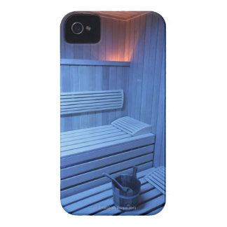 A sauna in blue light, Sweden. Case-Mate iPhone 4 Cases
