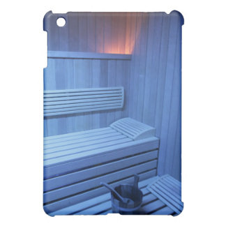 A sauna in blue light, Sweden. iPad Mini Covers