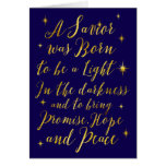 A Saviour was Born to be a Light Hope and Peace Greeting Card