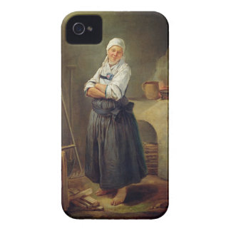 A Saxon Villager in her Kitchen (oil on canvas) iPhone 4 Case-Mate Case