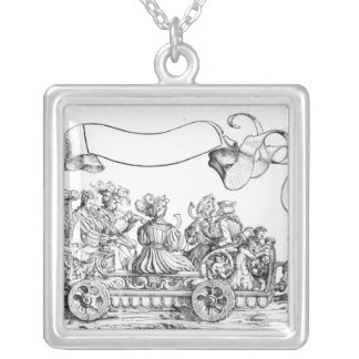 A Scene from Maximilian's Triumphal Procession Silver Plated Necklace