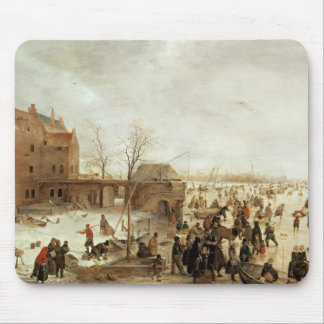 A Scene on the Ice near a Town, c.1615 Mouse Mat