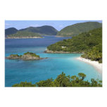 A scenic of Caneel Bay from a road at St. John