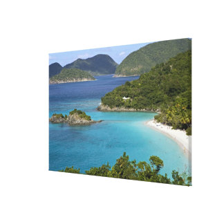 A scenic of Caneel Bay from a road at St. John Canvas Print