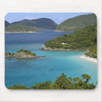 A scenic of Caneel Bay from a road at St. John Mouse Mat