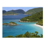 A scenic of Caneel Bay from a road at St. John Post Card