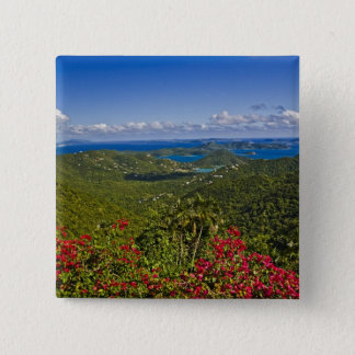 A scenic of Cruse Bay, St. John U.S Virgin 15 Cm Square Badge
