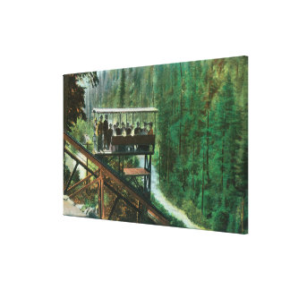 A Scenic Railway Along the Sacramento River Canvas Print