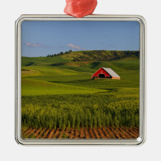 A scenic view of a barn in Moscow Idaho. Christmas Ornament