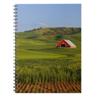 A scenic view of a barn in Moscow Idaho. Spiral Notebook