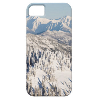 A Scenic View of Snowy Mountains and Trees. Case For The iPhone 5