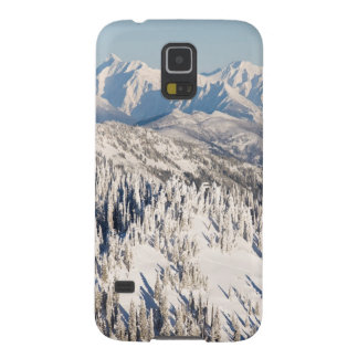 A Scenic View of Snowy Mountains and Trees. Galaxy S5 Cover