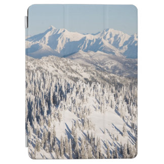 A Scenic View of Snowy Mountains and Trees. iPad Air Cover